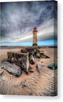 Dee Estuary Digital Art Canvas Prints