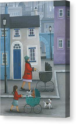 Old Fashioned Pram Canvas Prints