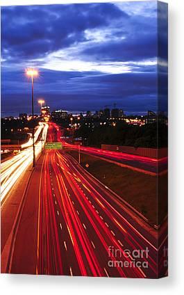 Motorway Canvas Prints