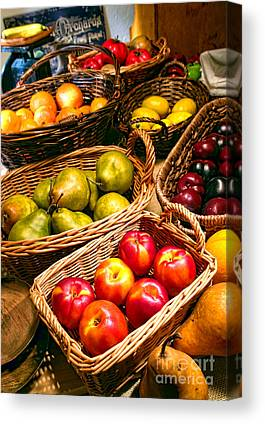 Produce Stand Canvas Prints