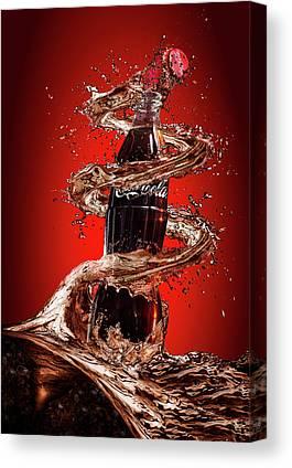 Cocacola Canvas Prints