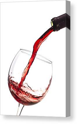 Red Wine Splash Canvas Prints