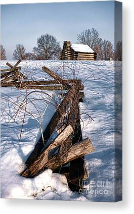 Split Rail Canvas Prints
