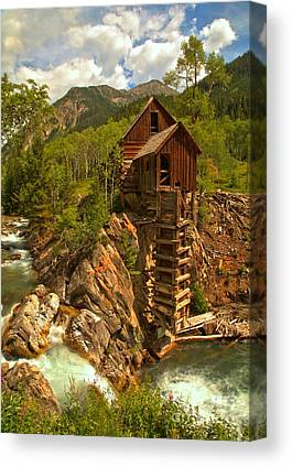 Mill On A Cliff Canvas Prints