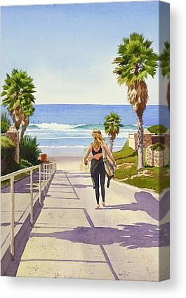Surfing Canvas Prints