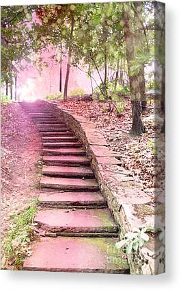 Surreal Pink Staircase Nature Canvas Prints
