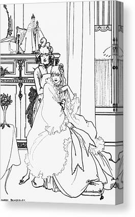 Drawings Of Gowns Drawings Canvas Prints