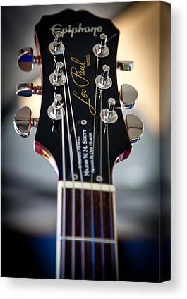 The Epiphone Les Paul Guitars Canvas Prints