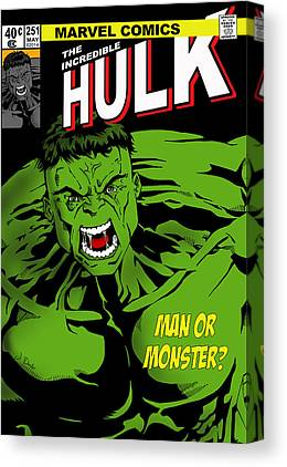 The Hulk Canvas Prints