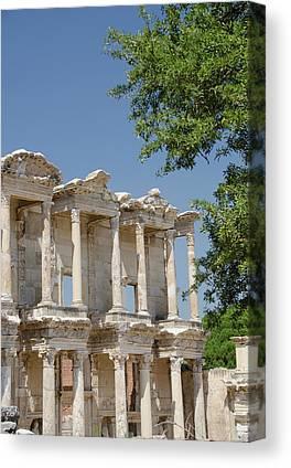Library Of Celsus Canvas Prints