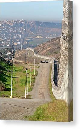 Border Wall Canvas Prints