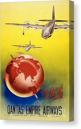 Qantas Canvas Prints