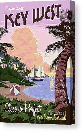 Travel Drawings Canvas Prints