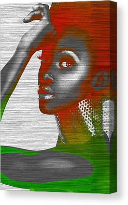 Brown Earrings Canvas Prints