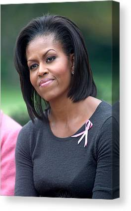 First Lady Michelle Obama Hosts Breast Cancer Awareness Month Ev Canvas Prints