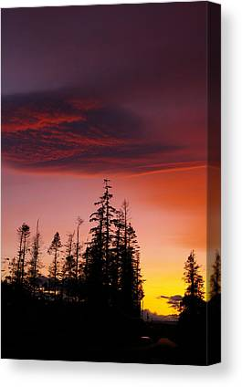 Purple And Raspberry Colored Sunset Canvas Prints