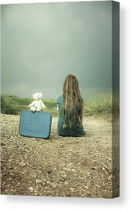 Lonely Girl Canvas Prints