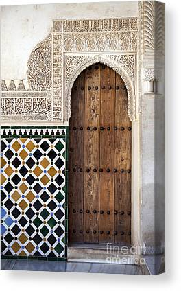 Old Wooden Door Canvas Prints