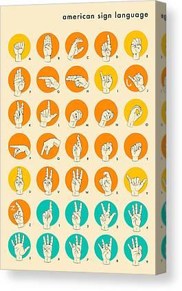 American Sign Language Canvas Prints
