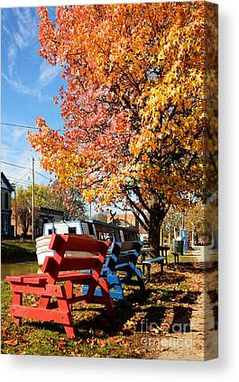 Southern Indiana Autumn Canvas Prints