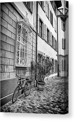 Wrought Iron Bicycle Canvas Prints