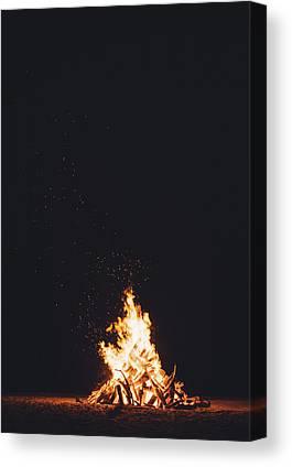 Fire Wood Canvas Prints
