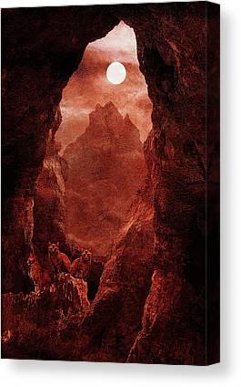 Fantasy Cave Canvas Prints