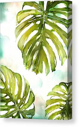 Palm Frond Canvas Prints