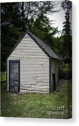 Old Wood Cabin Canvas Prints