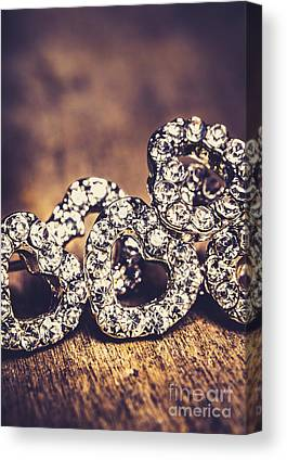 Diamond Earrings Photographs Canvas Prints