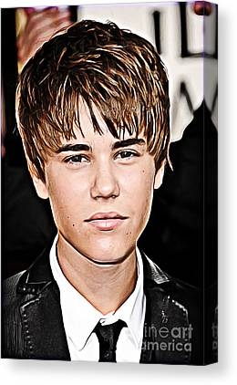 Justin Bieber Digital Art Canvas Prints