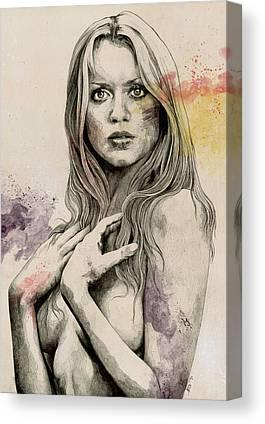 Gloria Drawings Canvas Prints