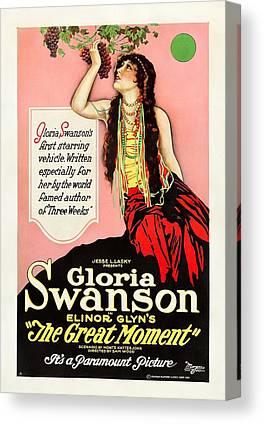 Gloria Swanson Drawings Canvas Prints