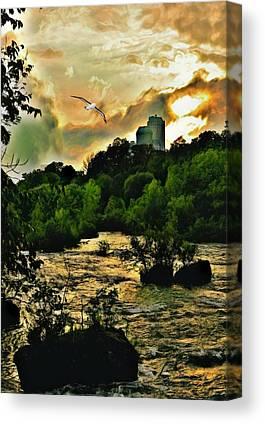 Three Sisters Island Digital Art Canvas Prints