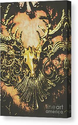 Wood Necklace Canvas Prints