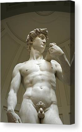 Statue Of David Canvas Prints