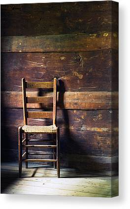 Ladderback Chair Photographs Canvas Prints