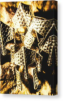 Roman Warrior Helmets Canvas Prints