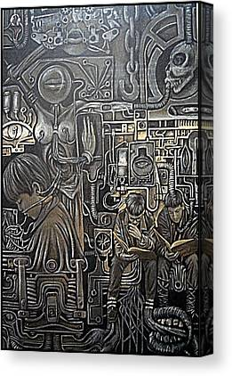 Mechanization Digital Art Canvas Prints