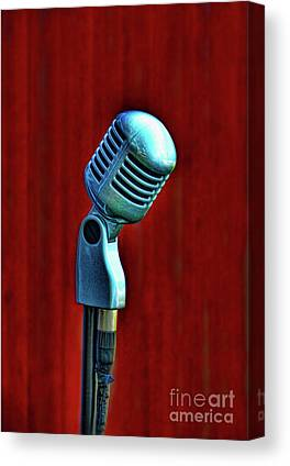 Microphones Canvas Prints