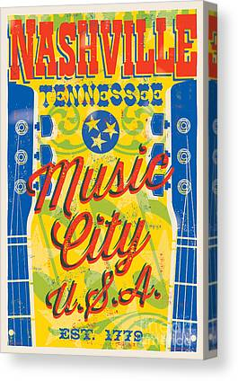 Nashville Tennessee Canvas Prints
