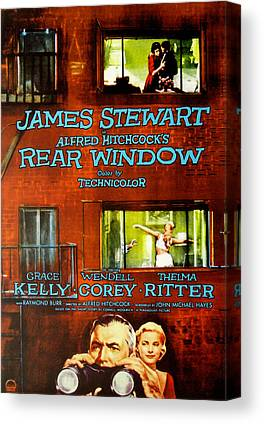 Films By Alfred Hitchcock Photographs Canvas Prints