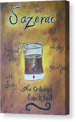 Sazerac Cocktail On Canvas Prints