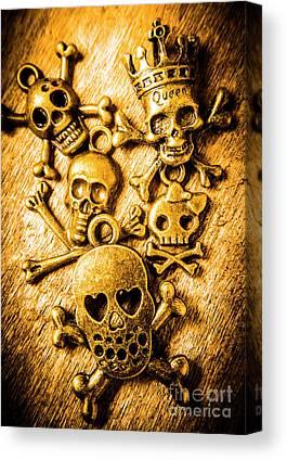 Skull Necklace Canvas Prints