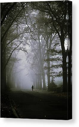 Foggy Road Canvas Prints
