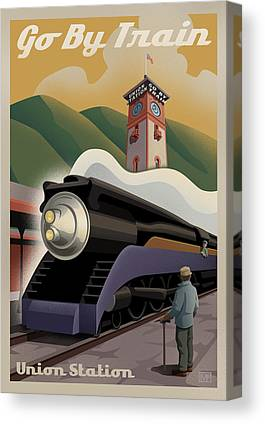 Vintage Trains Canvas Prints
