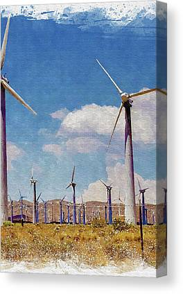 Wind Power Canvas Prints