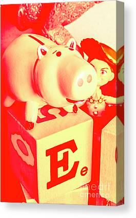 Piggy Bank Canvas Prints