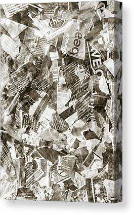 Torn Paper Collage Canvas Prints