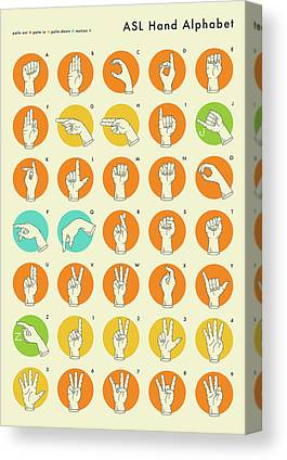 American Sign Language Canvas Prints